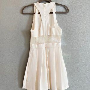 BCBGeneration Ivory Lace Pleated Dress